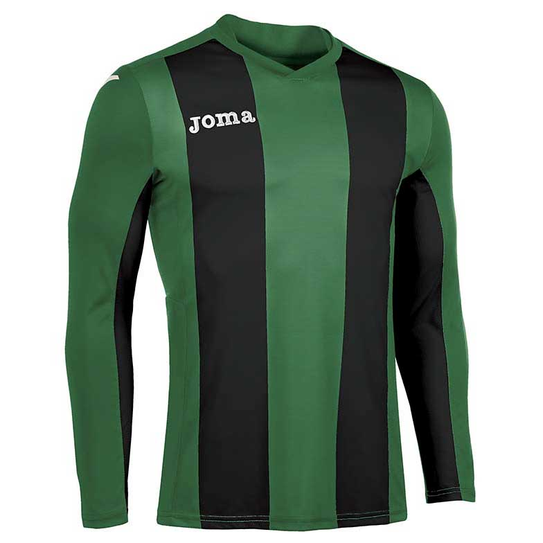 Joma Pisa V T-shirt Manche Longue S Green / Black