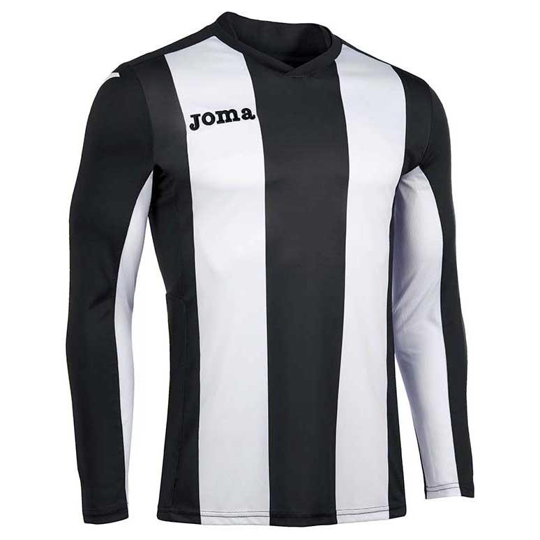 Joma Pisa V T-shirt Manche Longue S Black / White