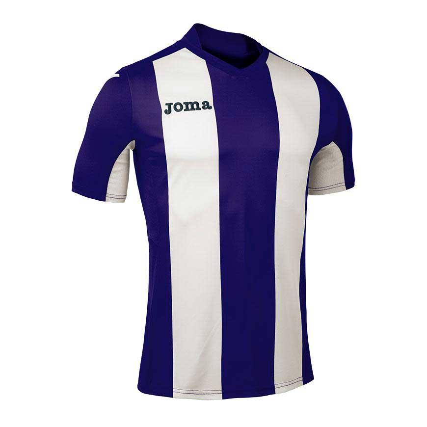 Joma T-shirt Manche Courte Pisa V S Purple / White