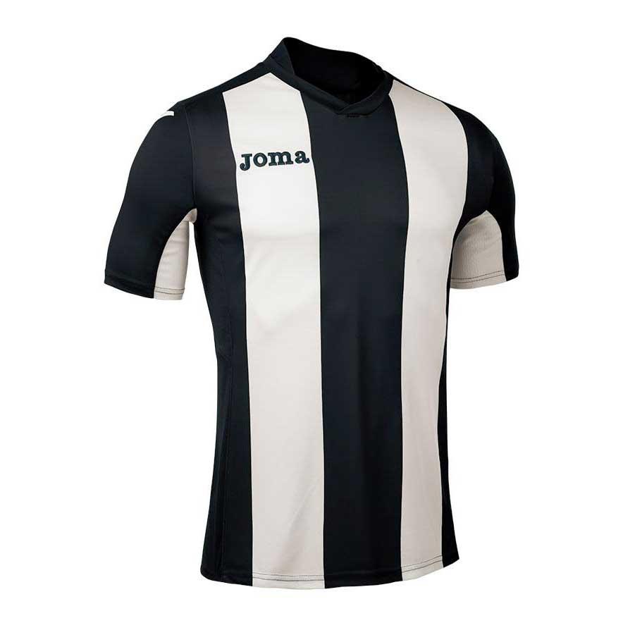 Joma T-shirt Manche Courte Pisa V S Black / White