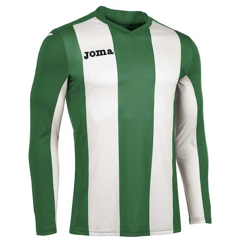 Joma Pisa V T-shirt Manche Longue S Green / White