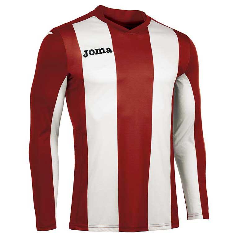 Joma Pisa V T-shirt Manche Longue S Red / White