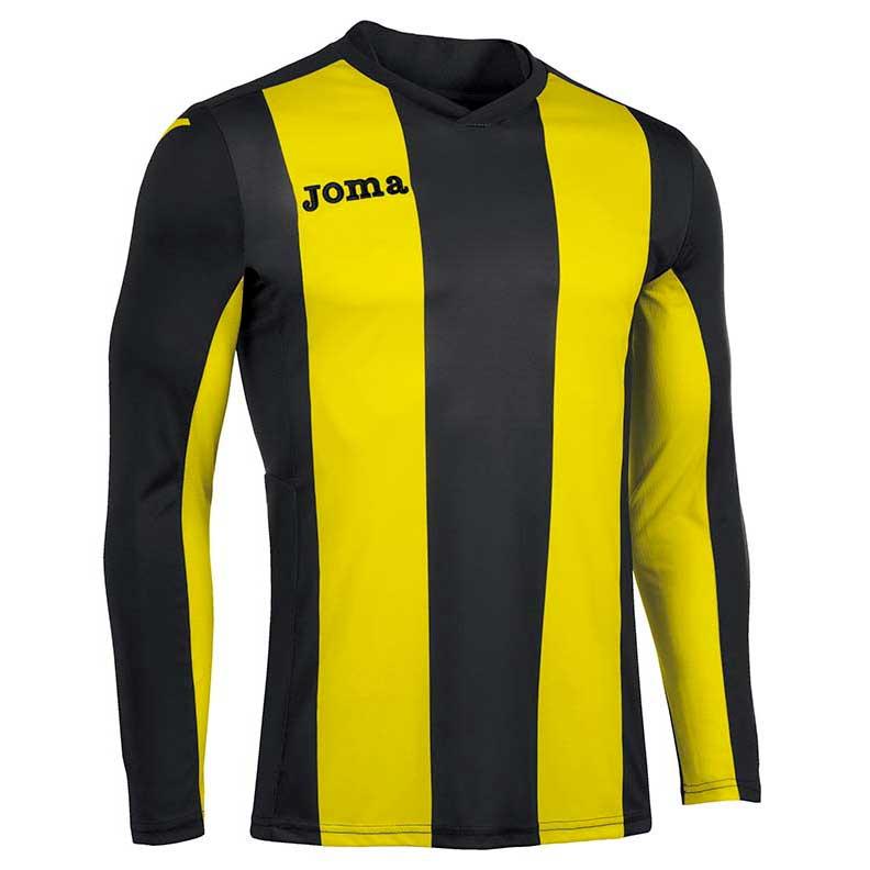 Joma Pisa V T-shirt Manche Longue S Black / Yellow