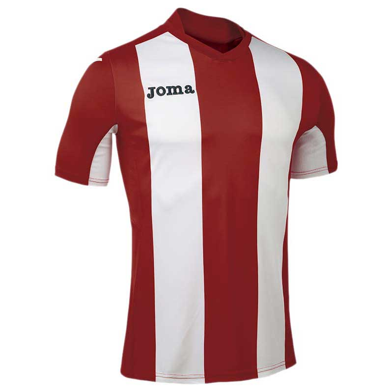 Joma T-shirt Manche Courte Pisa V S Red / White