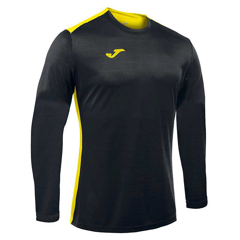 Joma Campus Ii Long Sleeve T-shirt S Black / Yellow