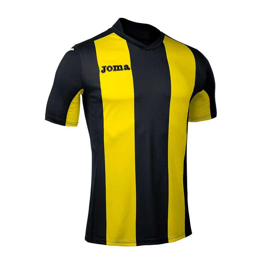 Joma T-shirt Manche Courte Pisa V S Black / Yellow