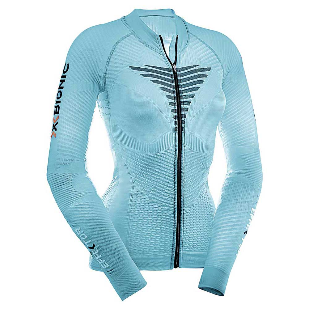 X-bionic Effector Biking Powershirt L/s Full Zip XS Turquoise / Anthracite