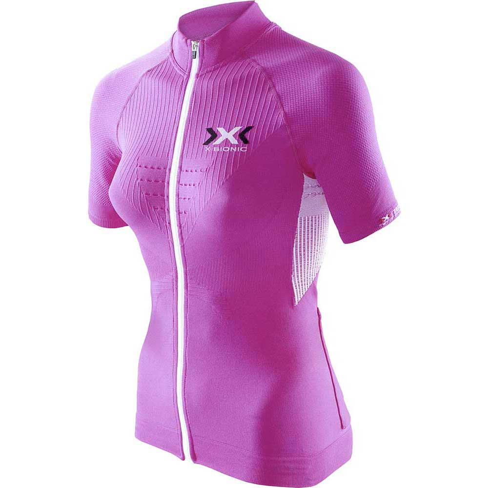 X-bionic The Trick Biking Short Sleeve T-shirt XS Pink / White
