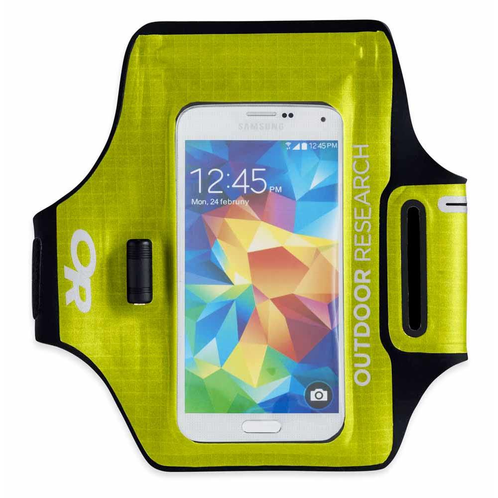 Outdoor Research Sensor Dry Pocket Armband One Size Lemongrass