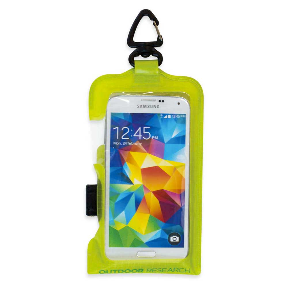 Outdoor Research Sensor Dry Pocket Premium Smart Phone Large One Size Lemongrass
