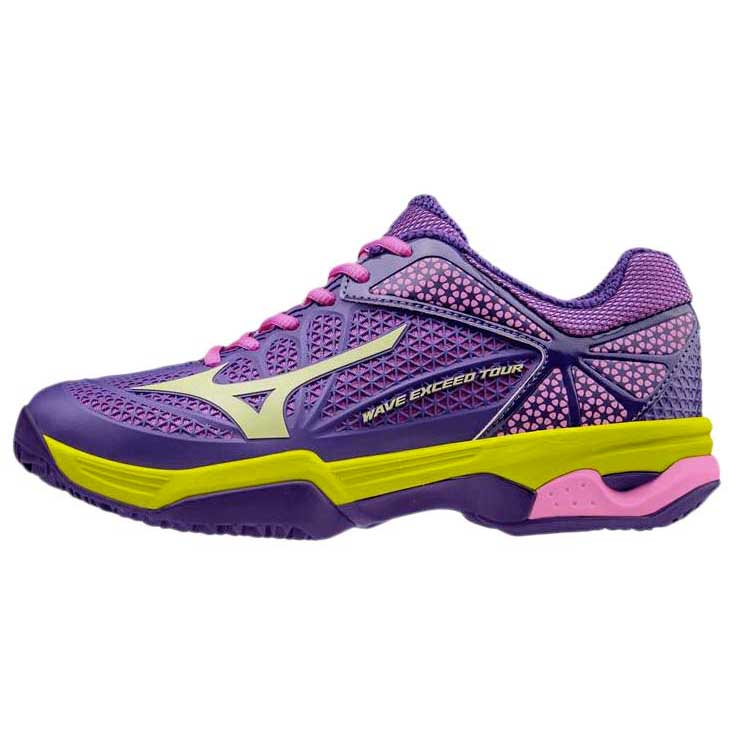 Mizuno Wave Exceed Tour 2 Clay Pansy Lime / Lime Pansy Punch / Electric Blau , Turnschuhe ba5eb0