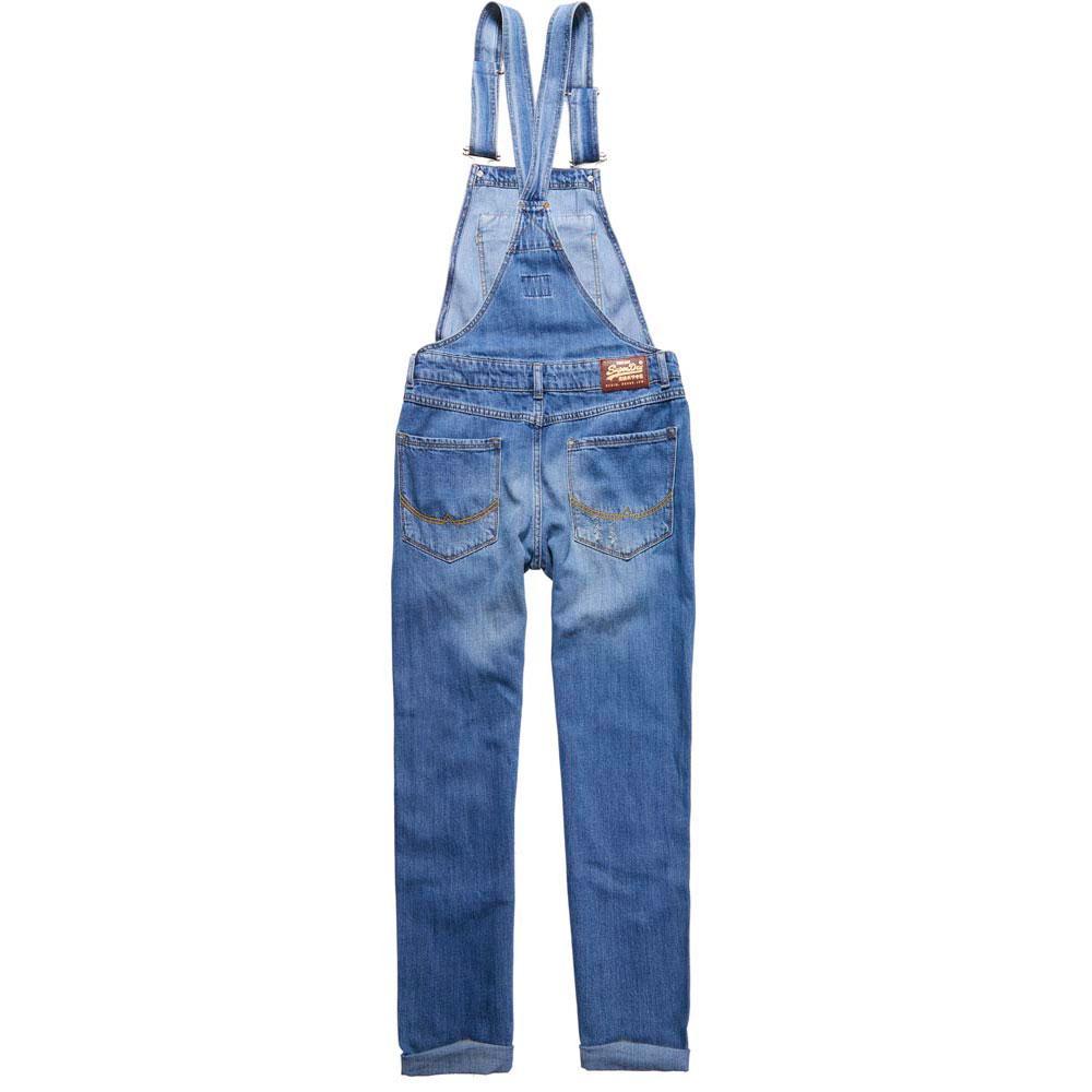 Superdry Abbigliamento Dungaree da lavoro Fashion Jodie Tute Boyfriend Blu trqRt