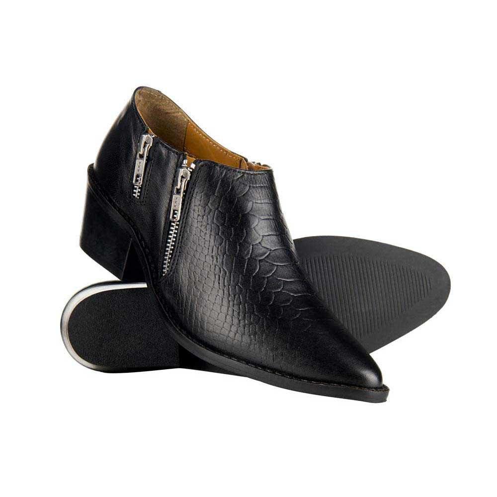 Zip Python Superdry Black Ankle Moda Boot Stivaletti Stivali Mila E T5qcZqW7f