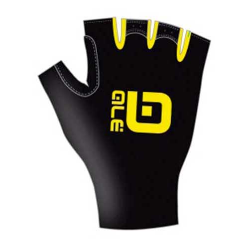 Ale-Chrono-Gloves-Yellow-Fluor-Black-Guanti-Ale-ciclismo