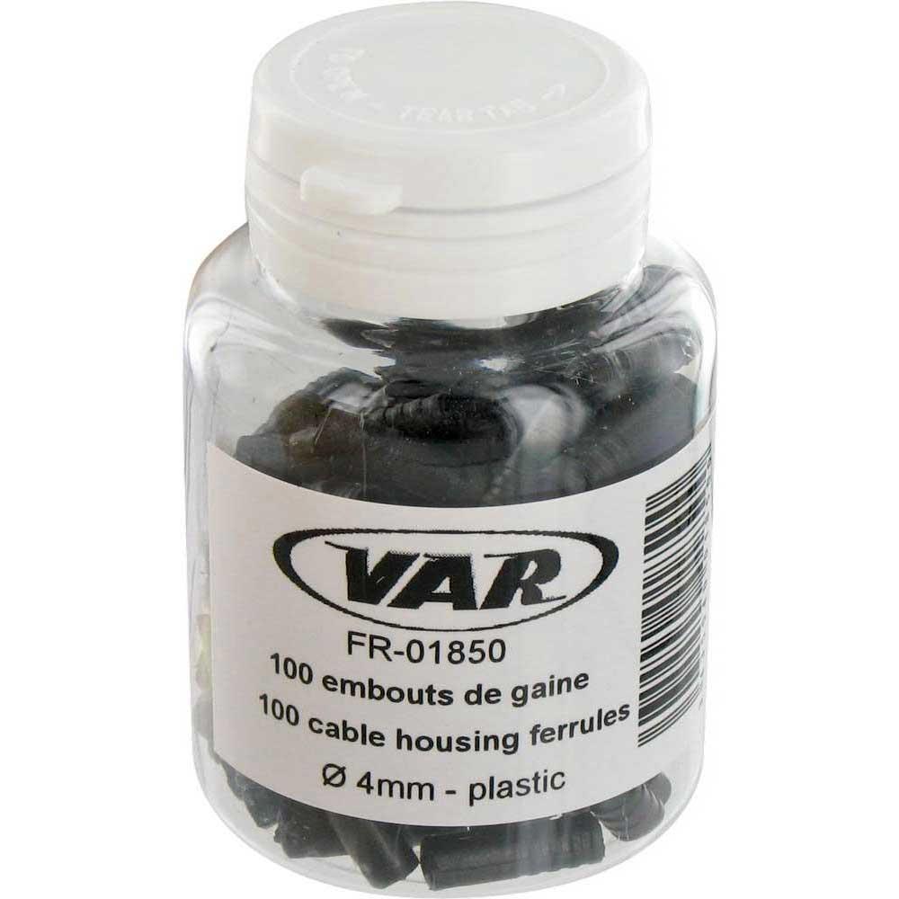 var-bottle-of-100-plastic-cable-housing-ferrules-4-mm-black