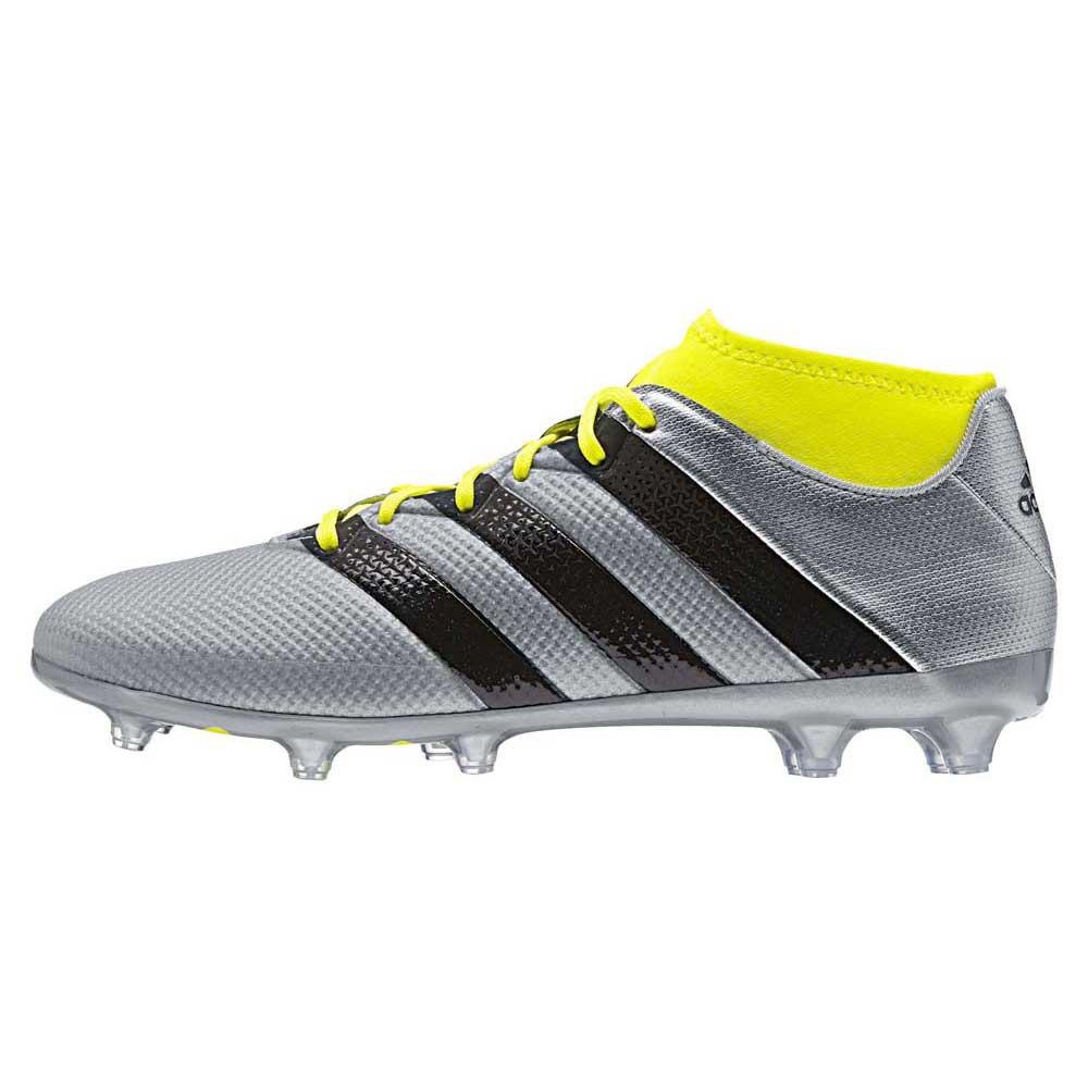 Adidas Ace 16.2 Primemesh Fg Ag EU 47 1/3 Silver Met / Core Black / Solar Yellow
