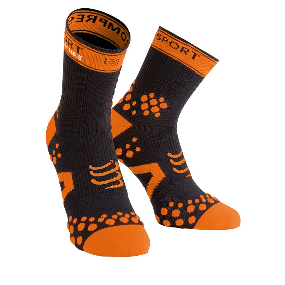 Compressport Racket Strapping Socks Recovery EU 35-38 Black / Orange