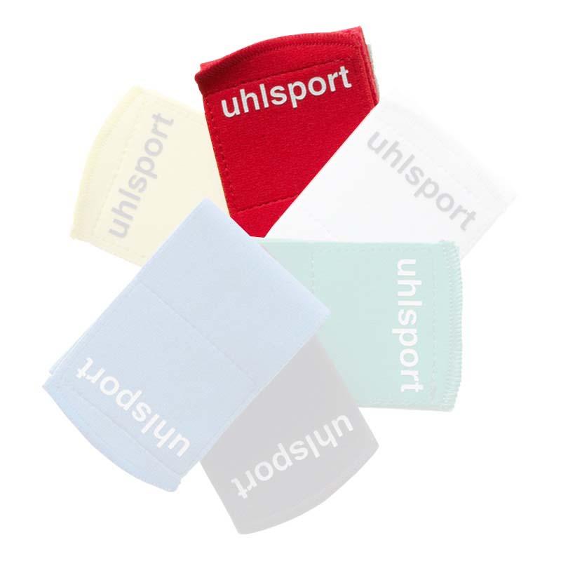 Uhlsport Shinguard Fastener 65 Mm 6 Units One Size Red