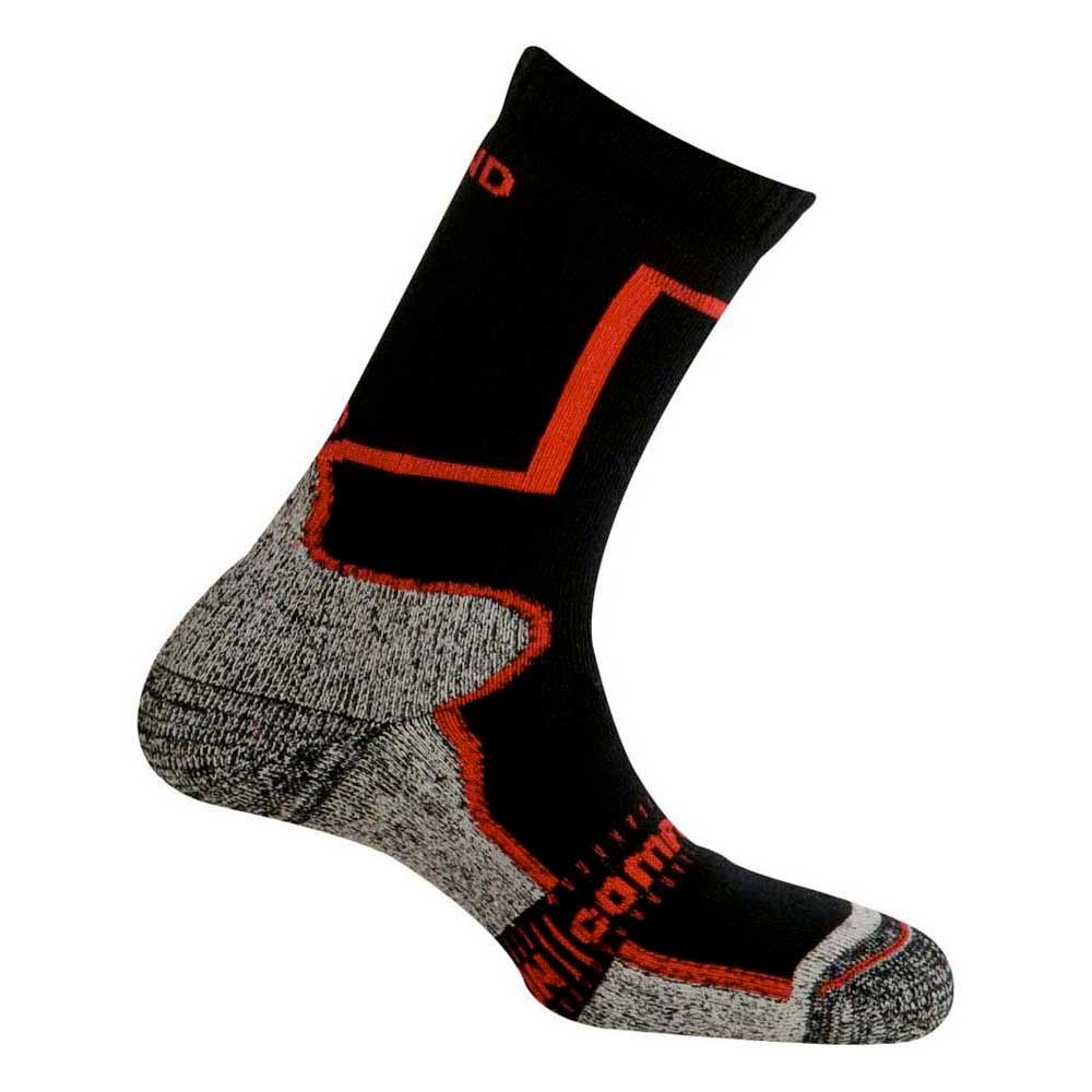 Mund Socks Pamir Socks EU 34-37 Black / Red