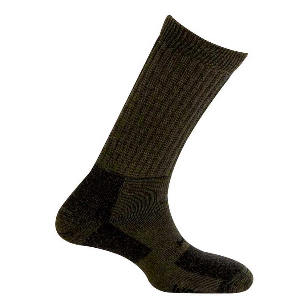 Mund Socks Tesla Wool Merino Socks EU 34-37 Kaki