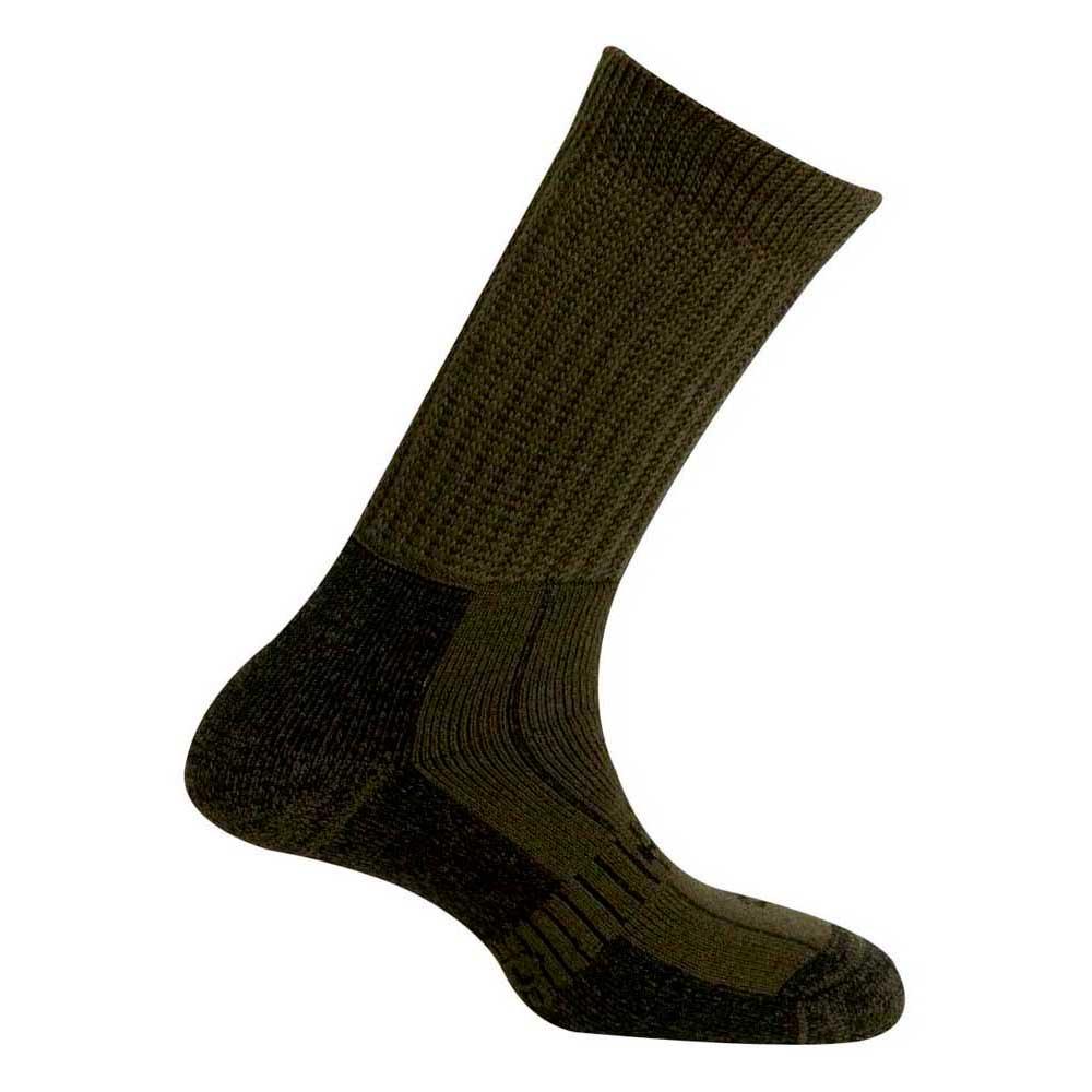 Mund Socks Explorer Wool Merinol Socks EU 34-37 Kaki
