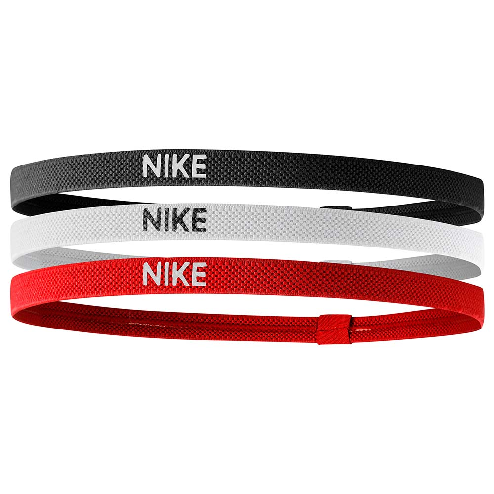 Nike Accessories Elastic 3 Units One Size Black / White / University Red
