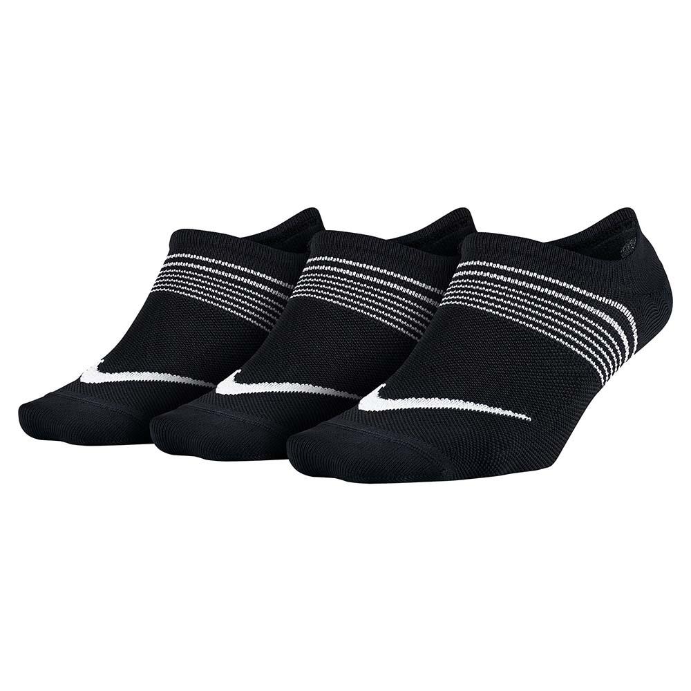 Nike Everyday Plus Lightweight Footie 3 Pairs EU 34-38 Black / White