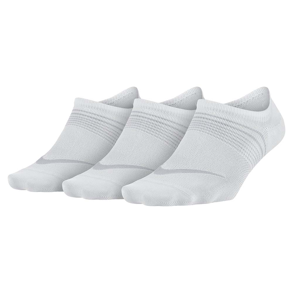 Nike Everyday Plus Lightweight Footie 3 Pairs EU 34-38 White / Wolf Grey