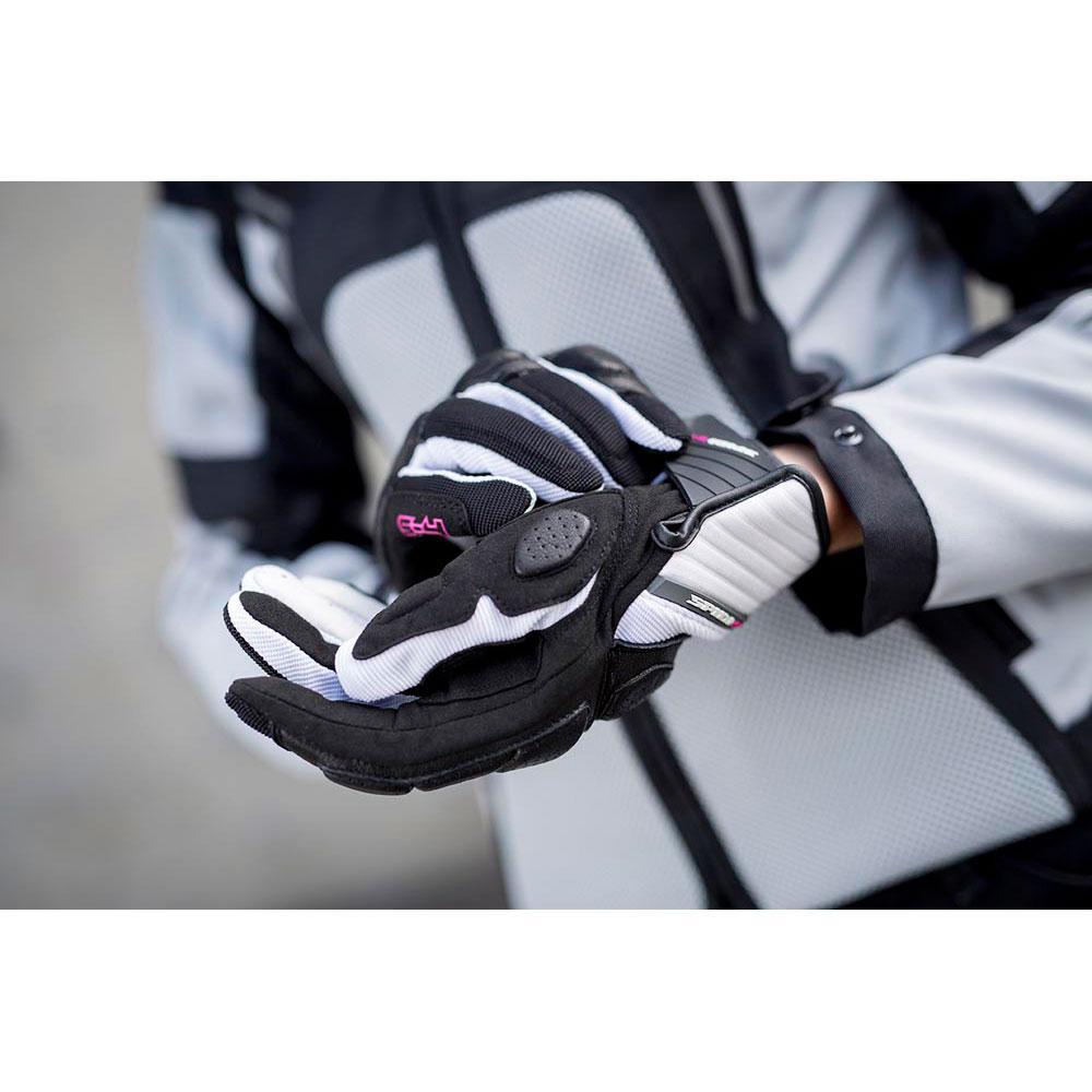 Spidi S 4 4 4 Lady negro   blanco , Guantes Spidi , moto , Protecciones fc9fc5
