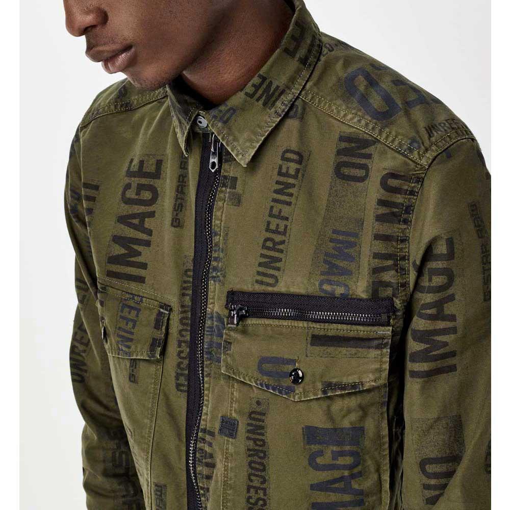 Gstar-Type-C-Zip-Tx-Overshirt-Verde-Chaquetas-Gstar-moda-Ropa-hombre miniatura 9