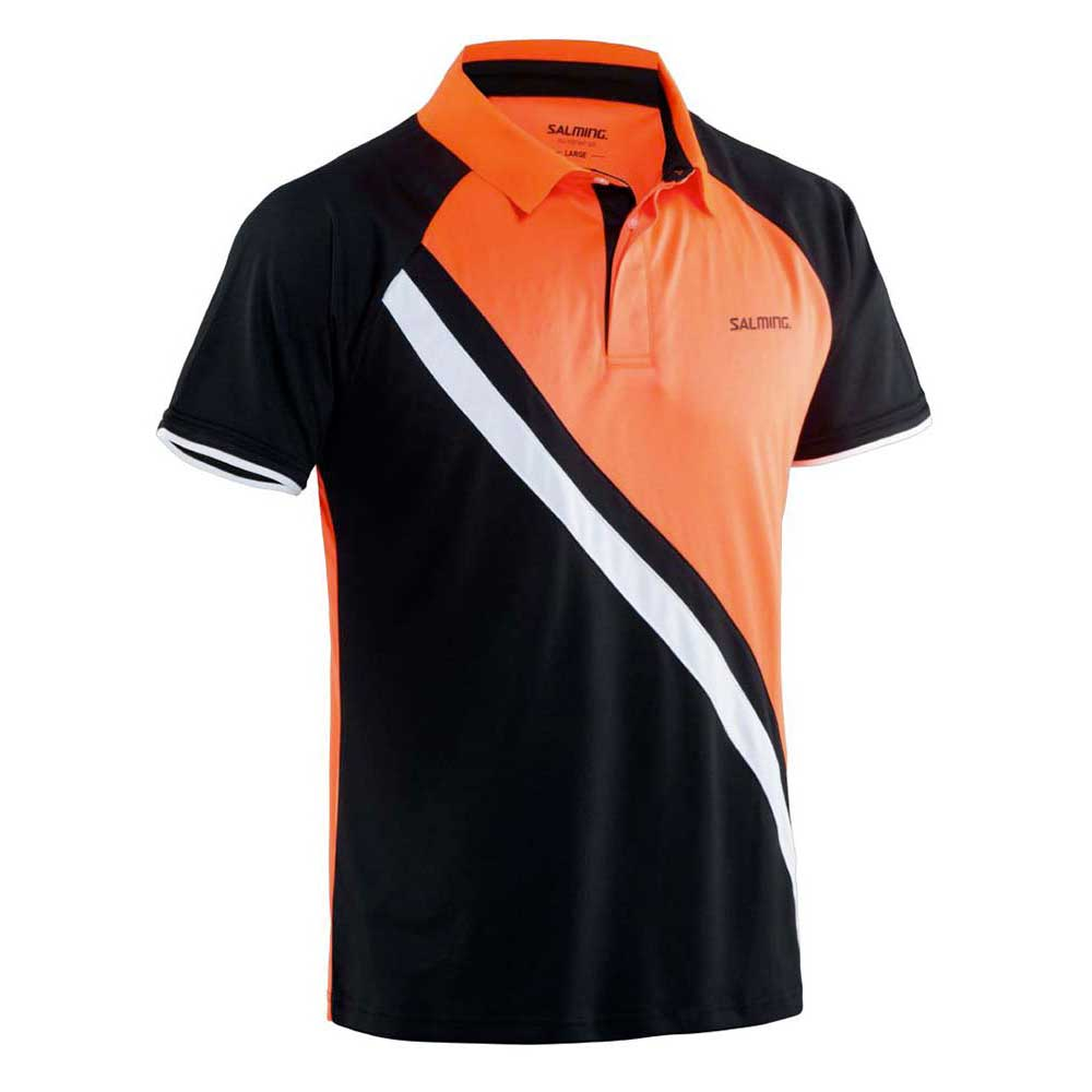 Salming Performance Polo S Black / Magma Red