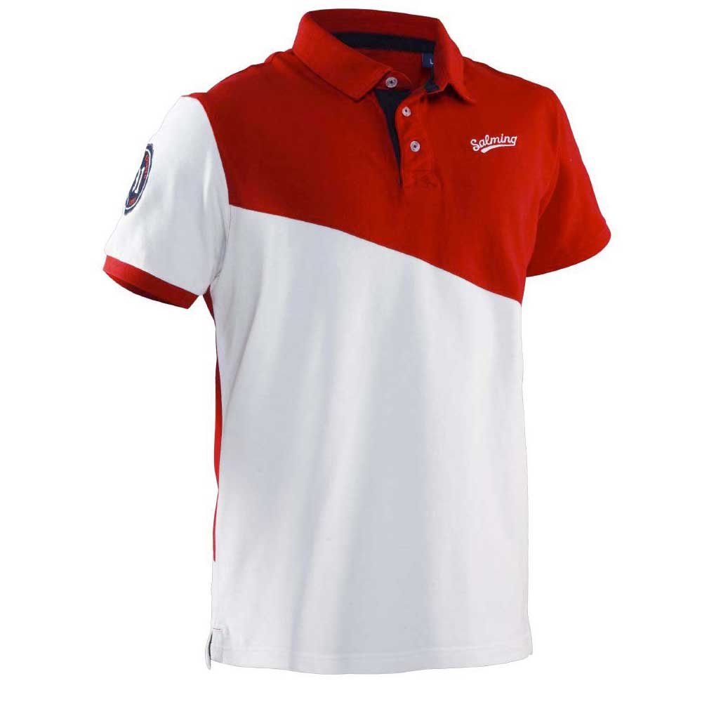 Salming Oak Polo S Red / White