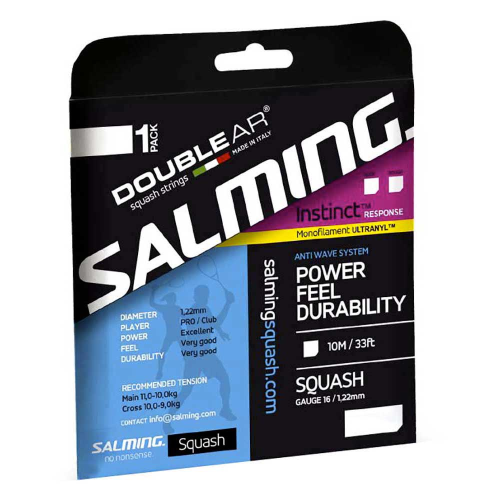 Salming Cordage Unité Squash Instinct Response 10 M 1.22 mm Black