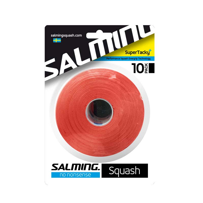 Salming Super Tacky+ 10 Units One Size Red