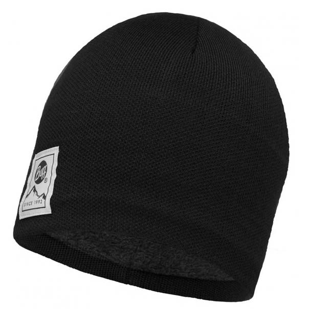 Buff ® Knitted & Polar Hat One Size Solid Black