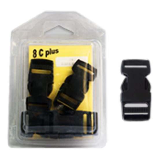 8 C Plus Boucle Tridente 50 50 mm Black