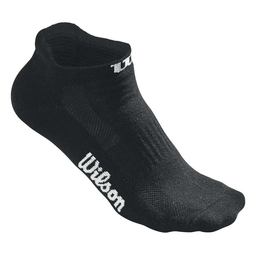 Wilson No Show 3 Pair Pack One Size Black