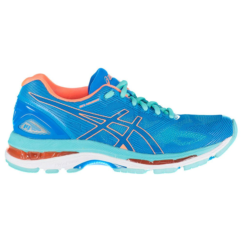 Asics Gel Nimbus 19 EU 35 1/2 Diva Blue / Flash Coral / Aqua Splash