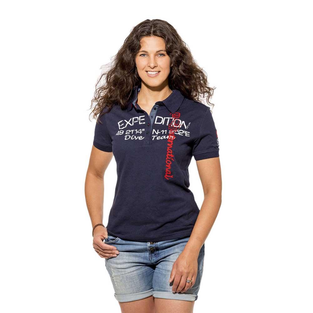 Ssi-Polo-Shirt-Woman-Blu-Polo-da-donna-Ssi-immersione-Abbigliamento