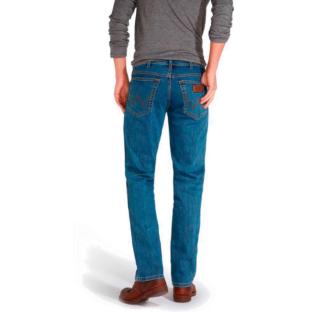 ventas calientes excepcional gama de estilos y colores exuberante en diseño Detalles de Wrangler Texas Stretch L36 Azul T78545/ Pantalones Azul ,  Pantalones Wrangler