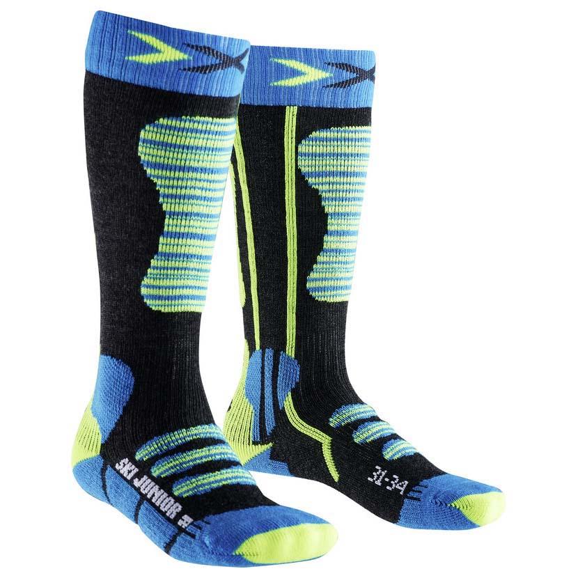 x-bionic-ski-sock-eu-27-30-turquoise-yellow