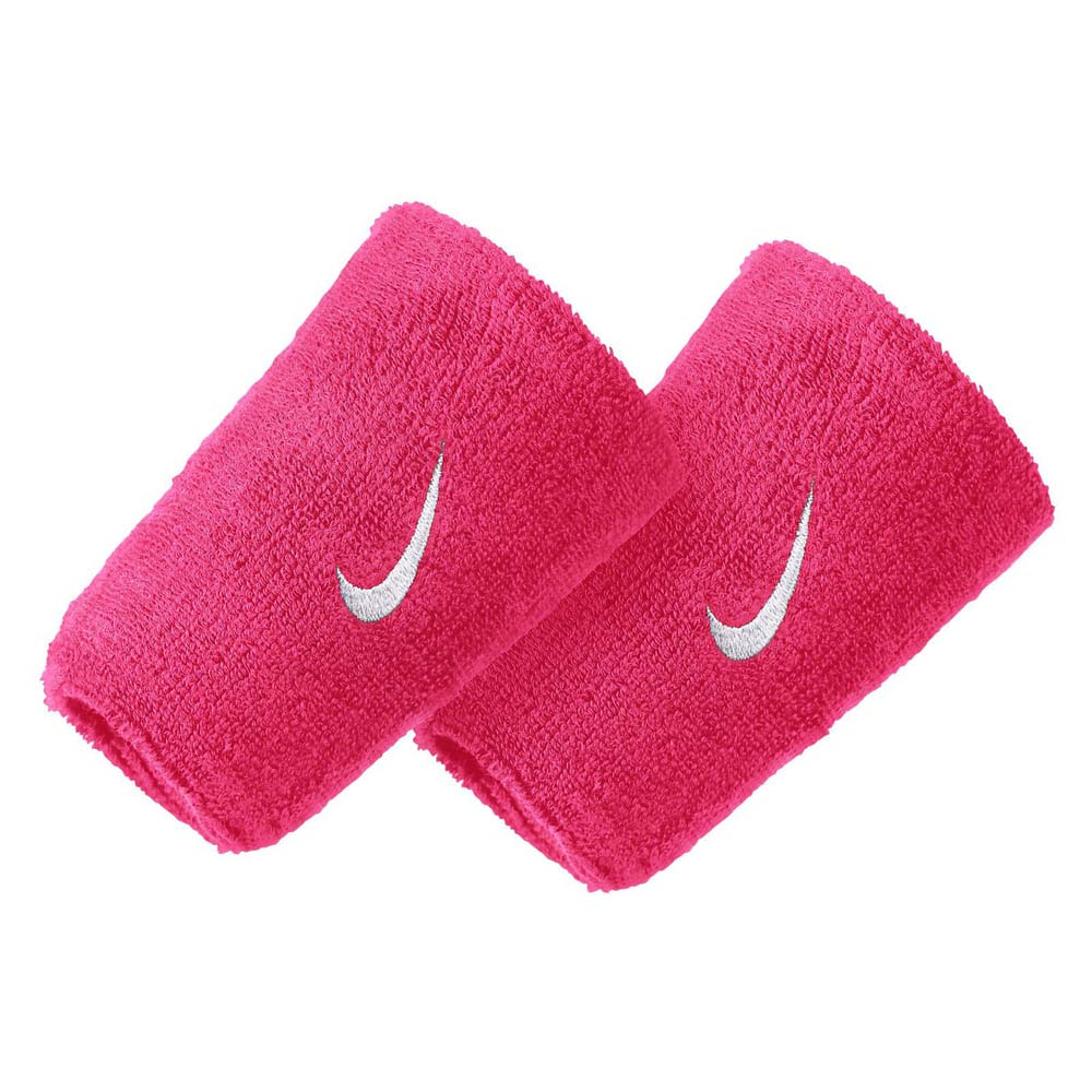 Nike Accessories Swoosh Doublewide Wristband One Size Vivid Pink
