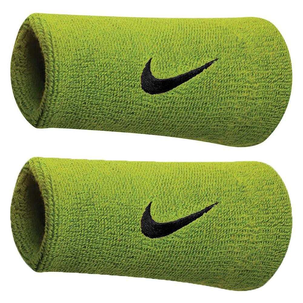 Nike Accessories Swoosh Doublewide Wristband One Size Grey / Black