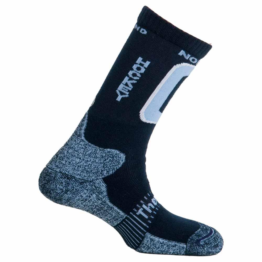 Mund Socks Nordic Skating Hockey Socks EU 34-37 Merino / Light Blue