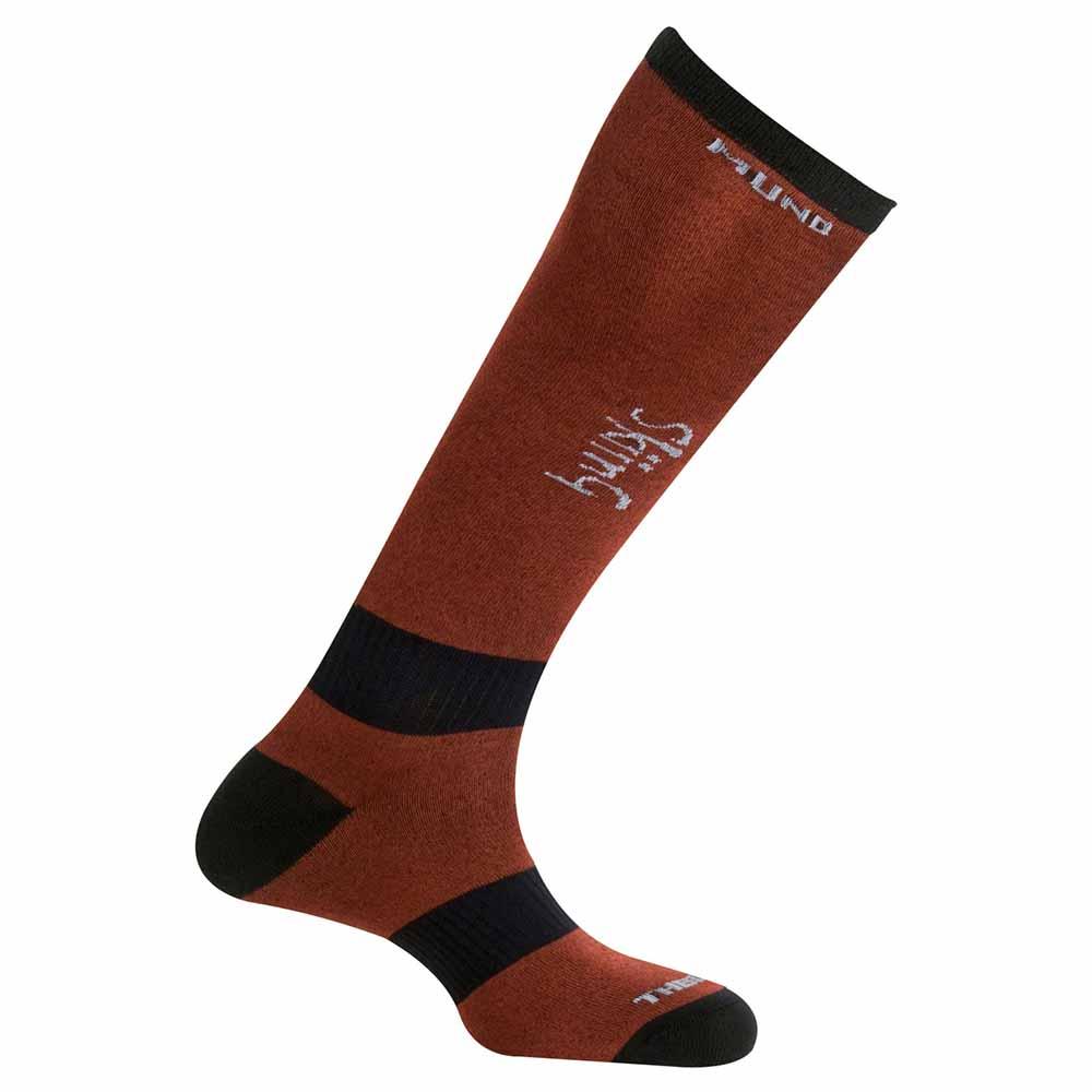 mund-socks-skiing-thermolite-eu-34-37-terracota