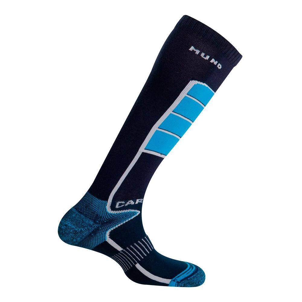 Mund Socks Carving EU 42-45 Merino / Light Blue