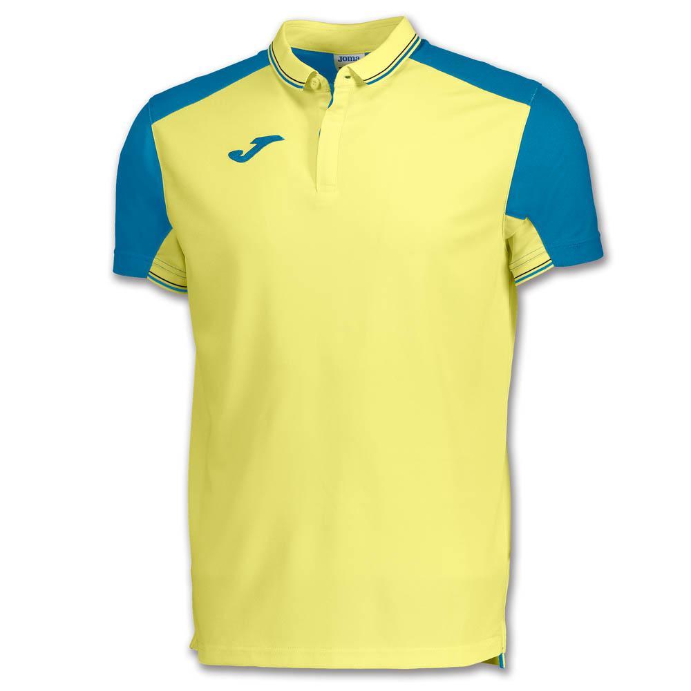 Joma Granada Short Sleeve Polo Shirt S Yellow / Blue