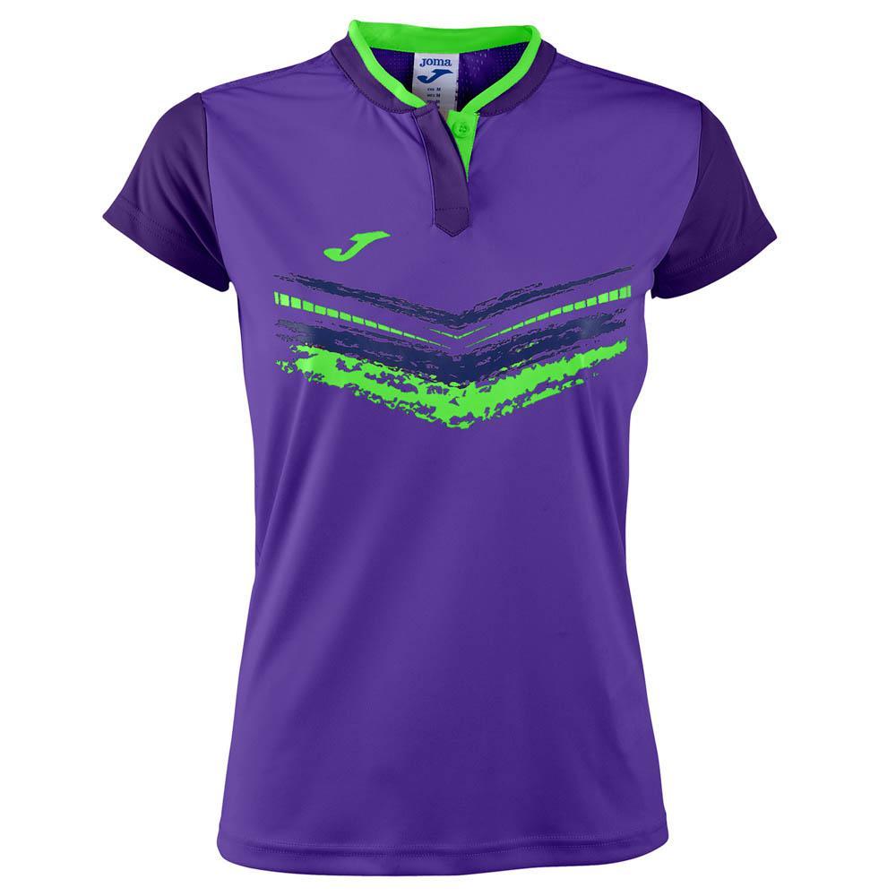 Joma Terra Ii Short Sleeve T-shirt M Purple