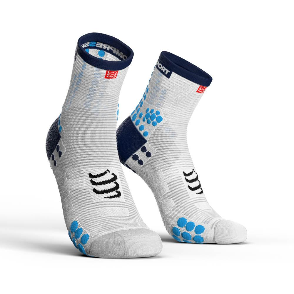 compressport-racing-socks-v3-0-run-hi-eu-39-41-white-blue