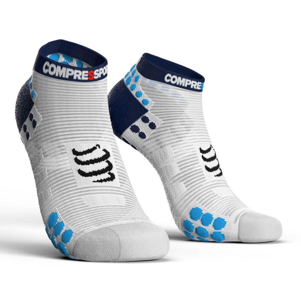 compressport-racing-socks-v3-0-run-lo-eu-39-41-white-blue